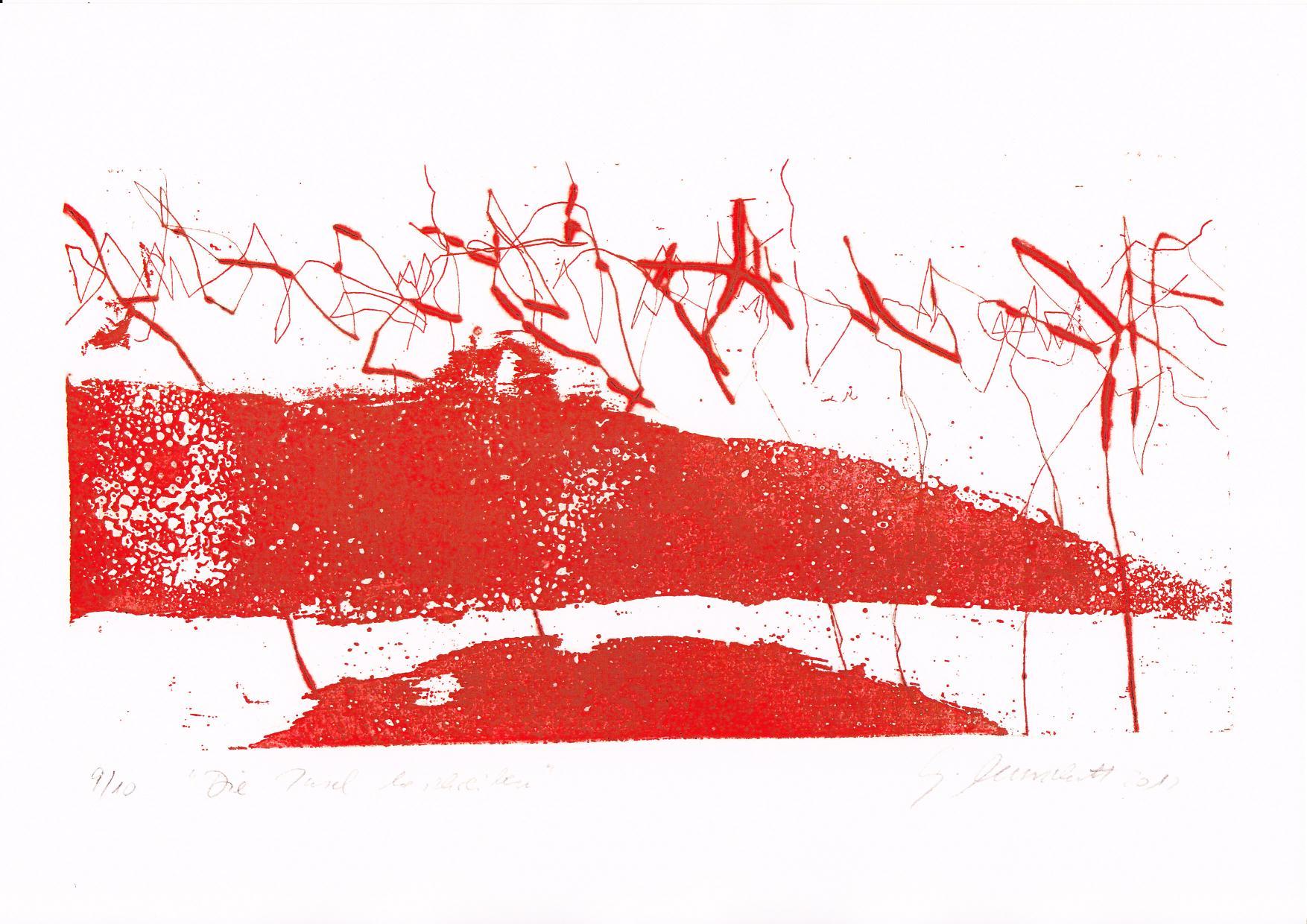 """""""Die Insel beschreiben"""", Aufl. 10, 2012, Aquatinta, Strichätzung, Kaltnadel"""