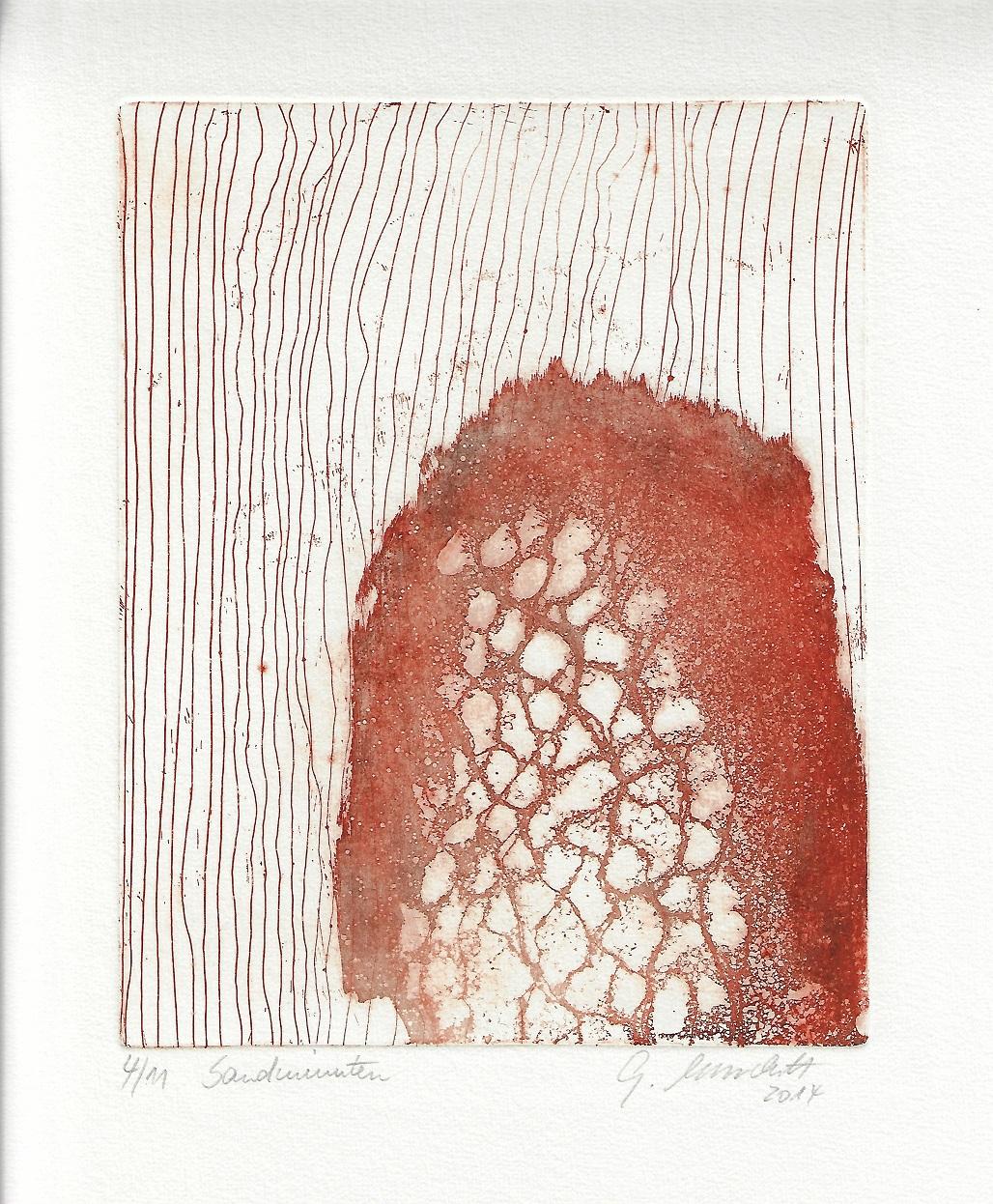 """""""Sandminuten"""", Aufl. 11, 2014, Aquatinta, Strichätzung"""